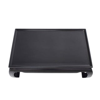 Large Black Lacquer Oriental Style Coffee Table