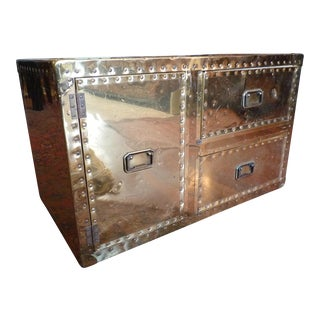 Sarried Style Brass Clad Trunk
