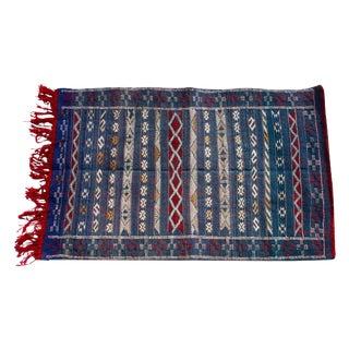 "Moroccan Berber Tribal Kilim Rug - 2' 7"" X 4' 2"""