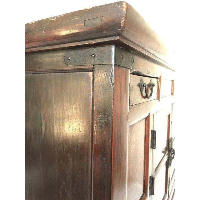 Amazing Antique 19th Century Korean | Chinese | Japanese Tansu Cabinet Iron Pulls and Hardware - Image 5 of 9