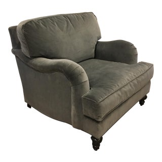 Gray Velvet Club Chair