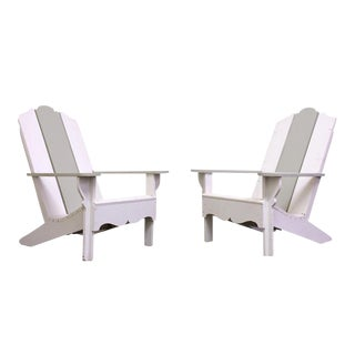 1970s Wood Adirondack Chairs - A Pair