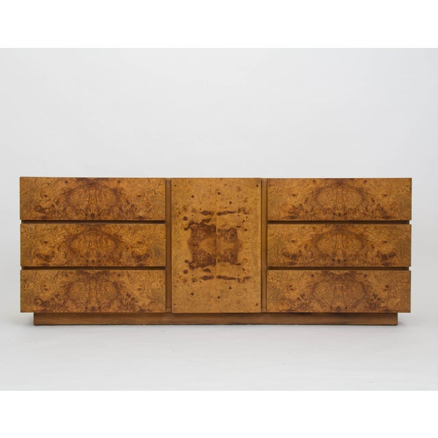 Olive Burl Wood Credenza or Dresser by Milo Baughman for Lane - Image 3 of 8