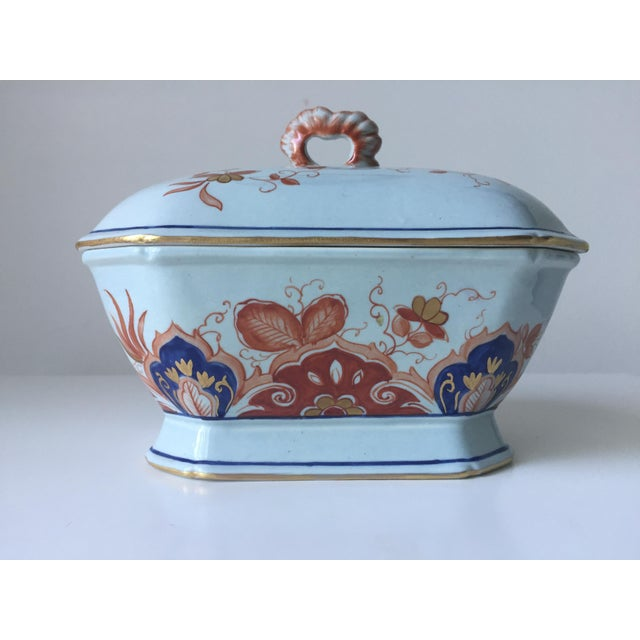 Italian Faience Hand-Painted Imari Tureen - Image 5 of 9