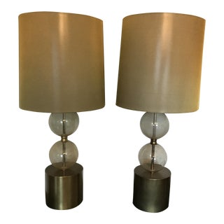 Arteriors Globe Table Lamps - A Pair