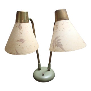 Industrial Adjustable Desk Lamp With Leaf Shades