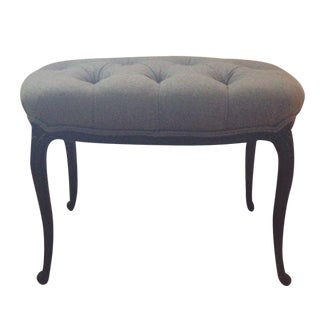 Grey Tufted Bench