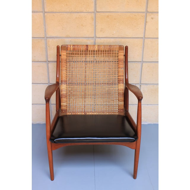 Image of Danish Modern Cane Back Armchair