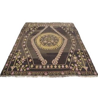 Turkish Wool Kilim Rug - 9′8″ × 10′6″