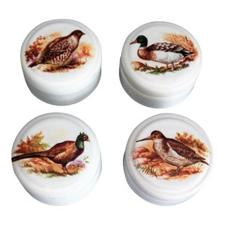 English Game Bird Trinket Box - Set of 4