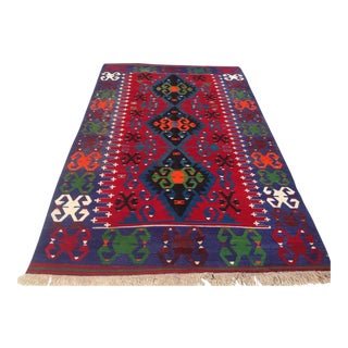 Vintage Turkish Kilim Rug - 6′ × 10′1″