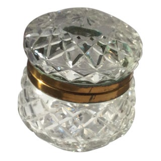 Vintage Round Crystal Box