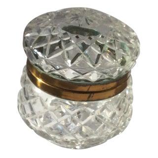 Vintage Round Crystal Box