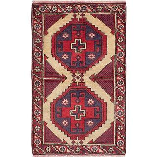 """3'0"""" x 4'10"""" Vintage Kurdish Rug"""
