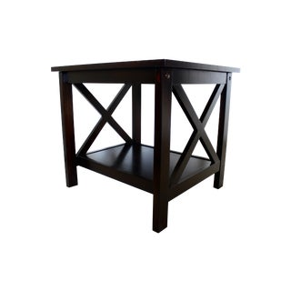 Crossbar Wooden Accent Table