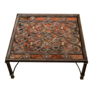 Polished Iron Coffee Table Base