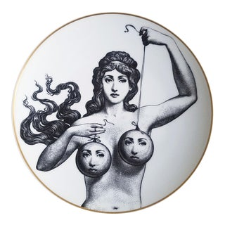 1980s Vintage Rosenthal Fornasetti Temi e Variazioni Porcelain Motiv 17 Plate