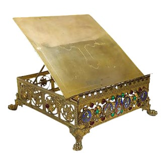 Antique French Cathedral Book Stand