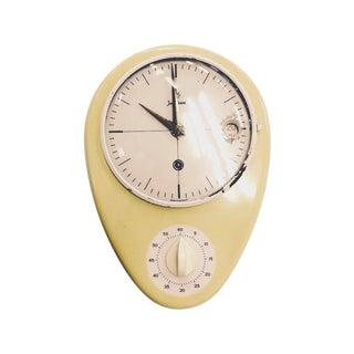 Mid-Century German Retro Kitchen Timer Wall Clock