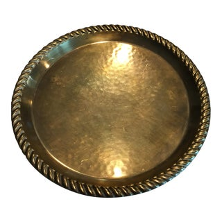 Mid-Century Swedish Scan Corp. Hammered Brass Tray