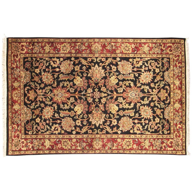 """Hand-Knotted Kashan Wool Rug - 5'1"""" X 7'10"""" - Image 1 of 5"""