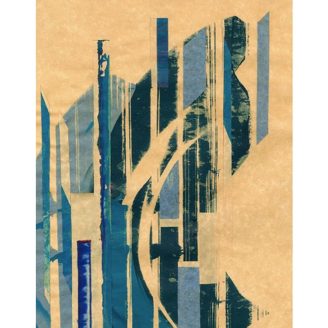 Image of Modern 'Red Meets Blue #19' Print