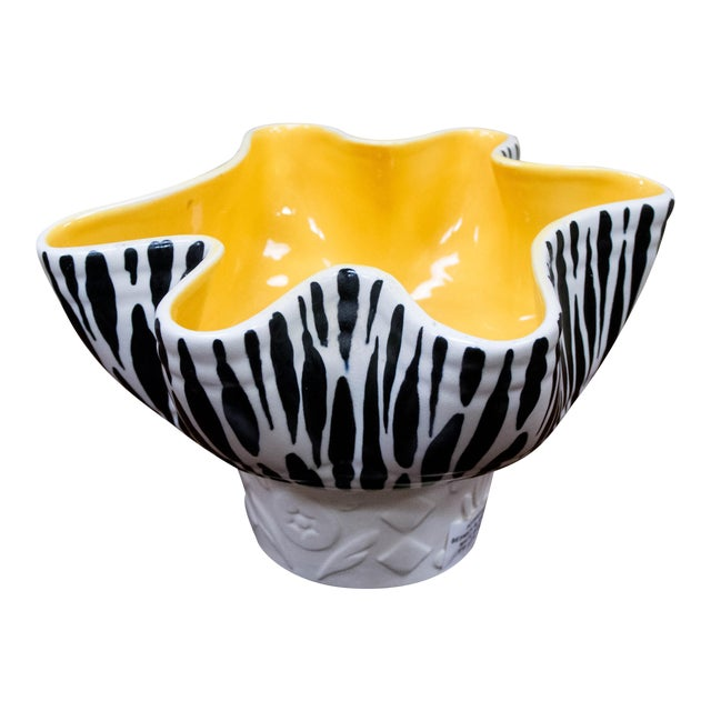 Beswick Mid-Century Zebra Stripe Planter or Bowl - Image 1 of 7
