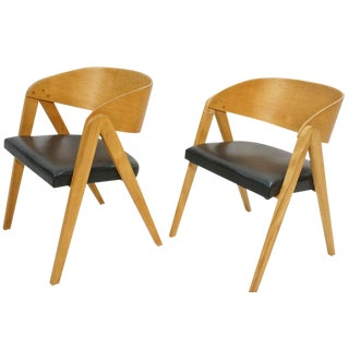 Vintage Allan Gould Compass Chairs - Pair