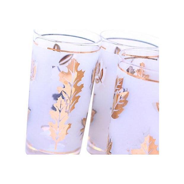 Frosted Leaf Glasses - Set of 6 - Image 4 of 4