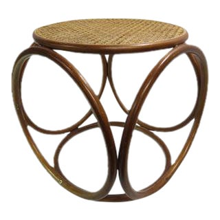 Rattan Loop Foot Stool Ottoman