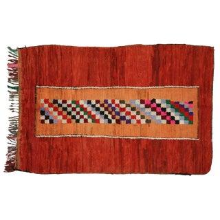 Vintage Moroccan Berber Checkerboard Rug - 4′1″ × 6′