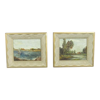 Matching Nature Paintings by Anita Pender - A Pair