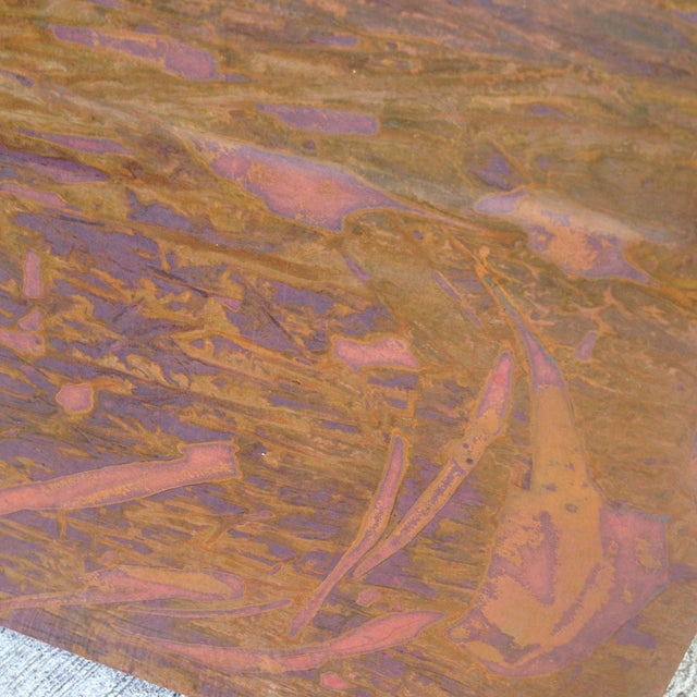 Square Contemporary Copper Art Piece. - Image 4 of 6