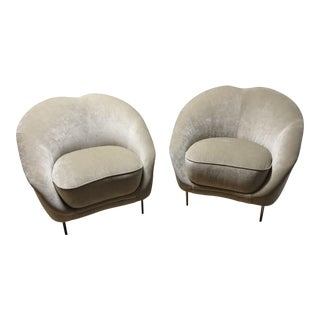 Gold Weiman Chenille Chairs - A Pair