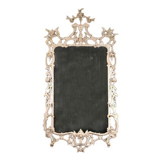 George III White Painted Rococo Mirror