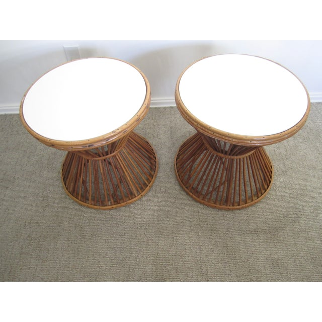 Franco Albini-Style Rattan Side Tables - A Pair - Image 2 of 8