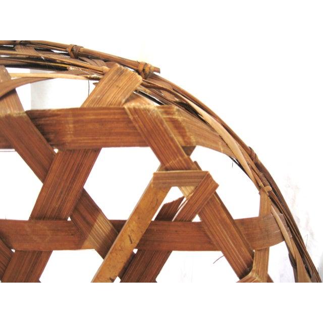 Large Round Asian Basket - Image 7 of 7