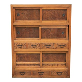 Antique Japanese Tansu Chest On Chest