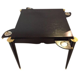 Ebonized Mid-Century Modern Card or Game Table