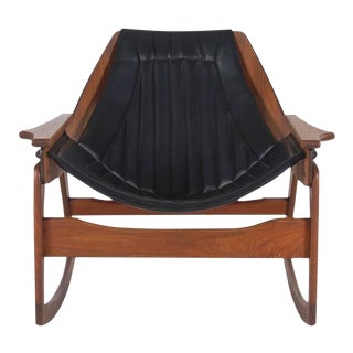 Jerry Johnson Sculptural Walnut Bentwood Rocking Chair