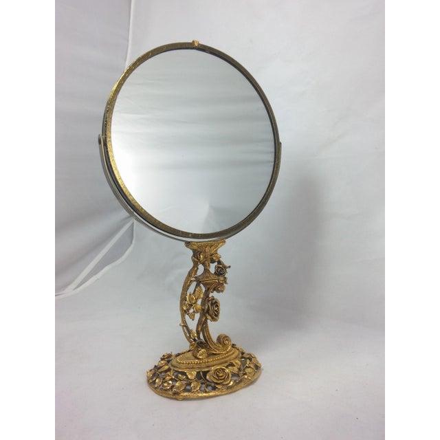 Image of 1950s Boudoir Ormolu Vanity Mirror by Matson