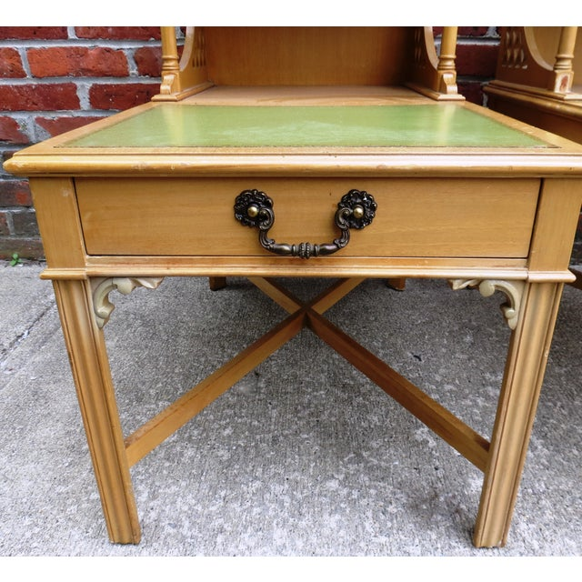 Vintage 1939 Imperial Mahogany End Tables - Pair - Image 4 of 9