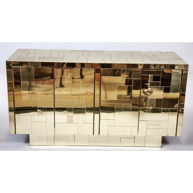 Image of Paul Evans Brass Cityscape Sideboard