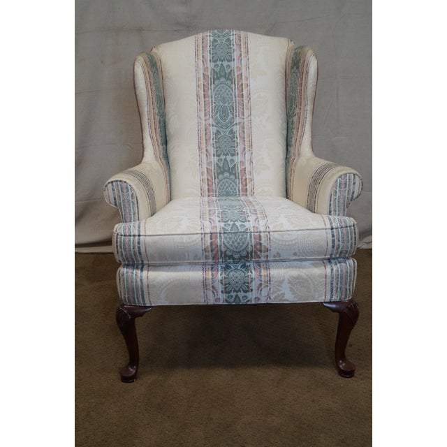 Highland House Hickory Queen Anne Wing Chair - Image 8 of 10