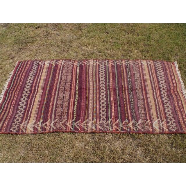 Traditional Handmade Kilim Rug - 4′6″ × 8′1″ - Image 3 of 9