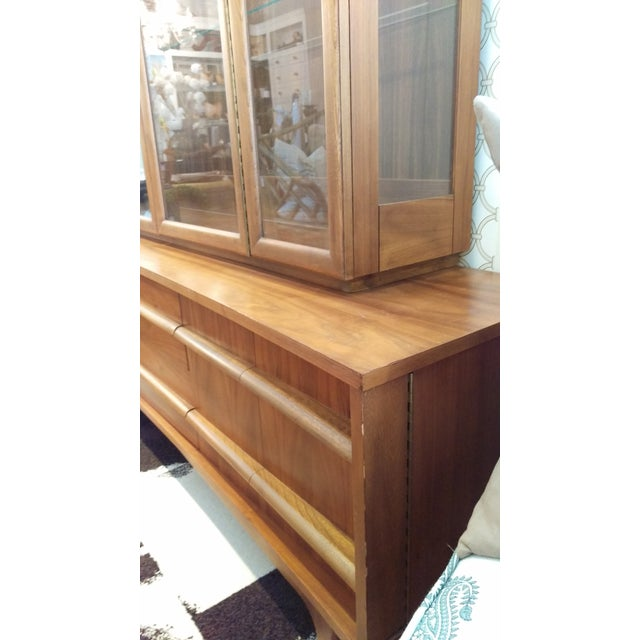 Mid-Century Kagan Style Bowed Front Hutch - Image 6 of 8