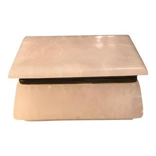 Solid Alabaster Trinket Box