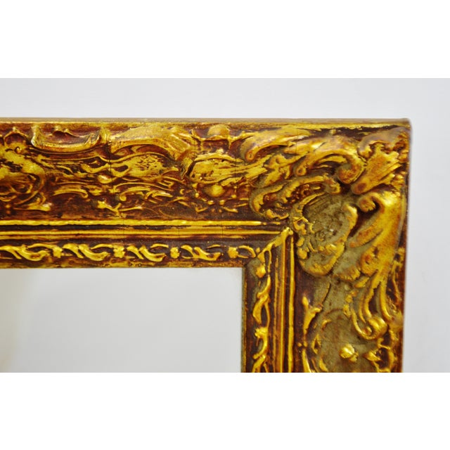 Vintage 1964 Gold Gilt Gesso Framed Wall Mirror - Image 6 of 9