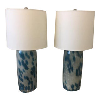 Vintage Glass Statement Lamps - A Pair