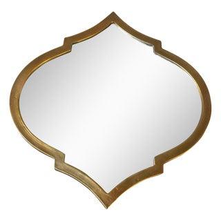Gold Quatrefoil Metal Mirror